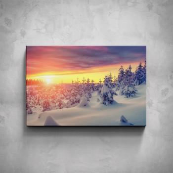 Obraz - Hory západ slunce