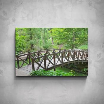 Obraz - Dřevěný mostek