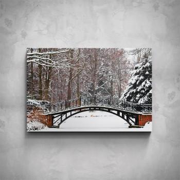 Obraz - Zasněžený most