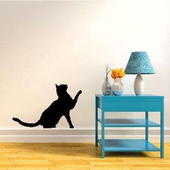 Samolepka na zeď - Sedící kočka