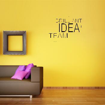 Samolepka na zeď - Žárovka z textu