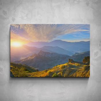 Obraz - Východ slunce hory