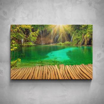Obraz - Zelené jezírko
