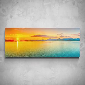 Obraz - Západ slunce nad jezerem
