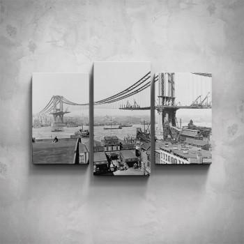 3-dílný obraz - Most