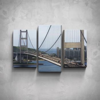 3-dílný obraz - Hong Kong Bridge
