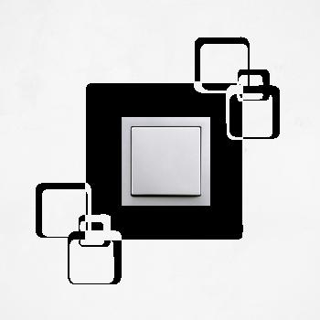 Samolepka na vypínač - Kostky