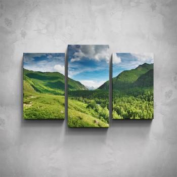 3-dílný obraz - Horské údolí