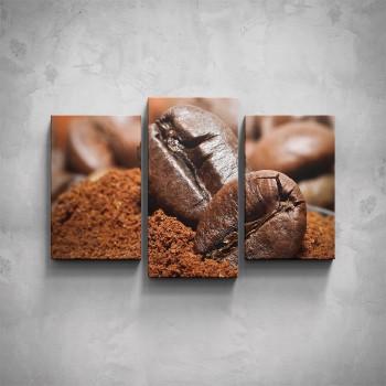 3-dílný obraz - Kávové zrno