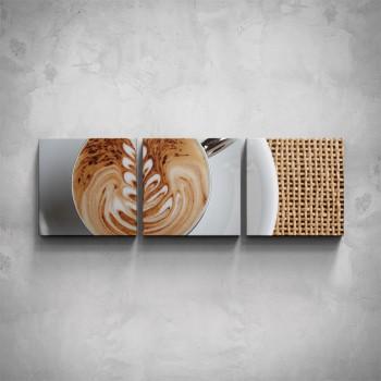 3-dílný obraz - Káva - detail