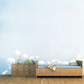 Samolepka na zeď - ZOO set zvířátek