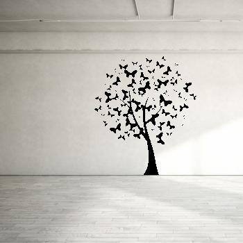 Samolepka na zeď - Motýlí strom