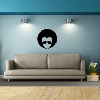 Samolepka na zeď - Afro účes