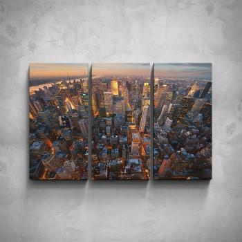 3-dílný obraz - Světla New Yorku
