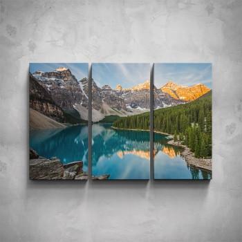 3-dílný obraz - Horské jezero