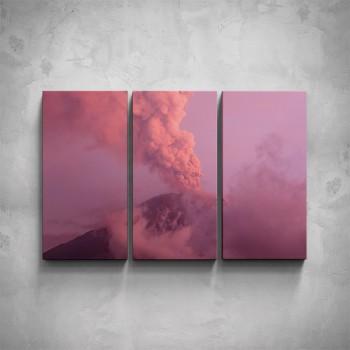 3-dílný obraz - Sopka