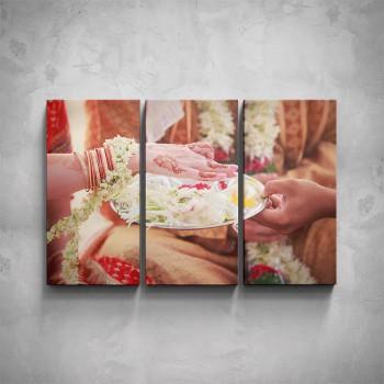 3-dílný obraz - Detail ruky