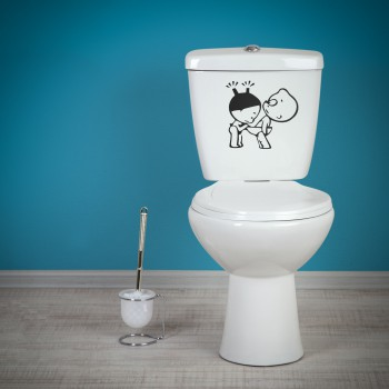 Samolepka na WC - Kontrolování
