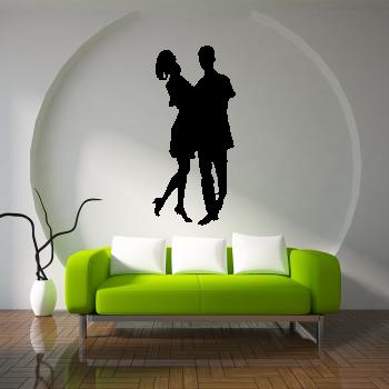 Samolepka na zeď - Taneční pár