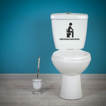 Samolepka na WC - Downloading