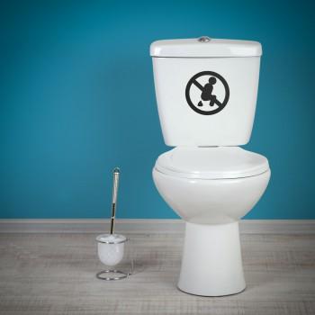 Samolepka na WC - Zákaz