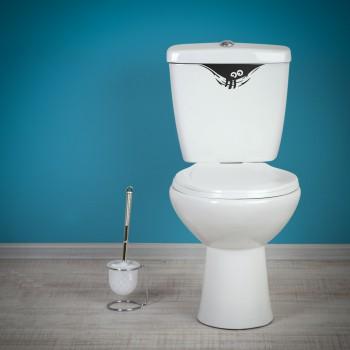 Samolepka na WC - Koukající strašidýlko