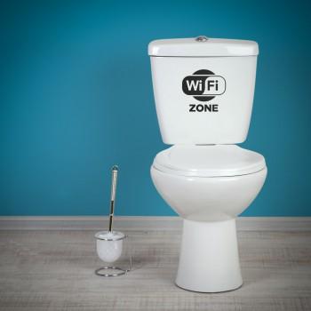 Samolepka na WC - WiFi zóna