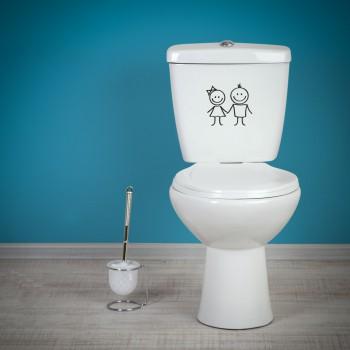 Samolepka na WC - Postavičky