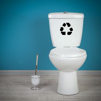 Samolepka na WC - Recyklace