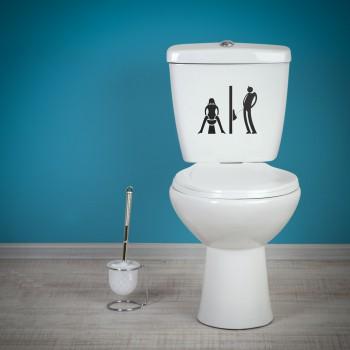 Samolepka na WC - Záchody