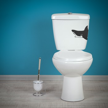 Samolepka na WC - Žralok