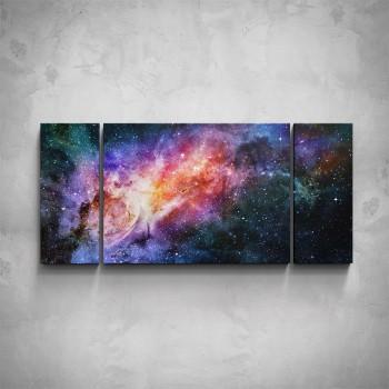 3-dílný obraz - Vesmír
