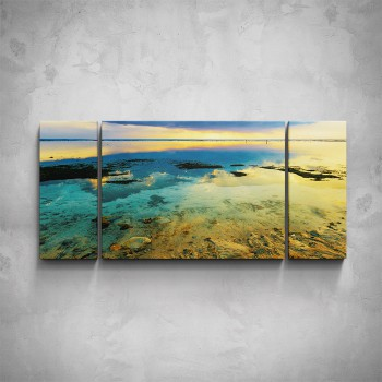 3-dílný obraz - Moře v barvách