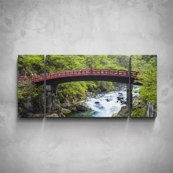 3-dílný obraz - Červený most