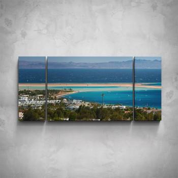 3-dílný obraz - Turistická riviéra