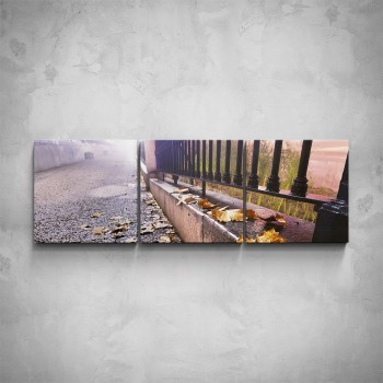 3-dílný obraz - Podzimní ulice
