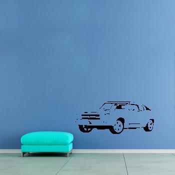 Samolepka na zeď - Staré závodní auto
