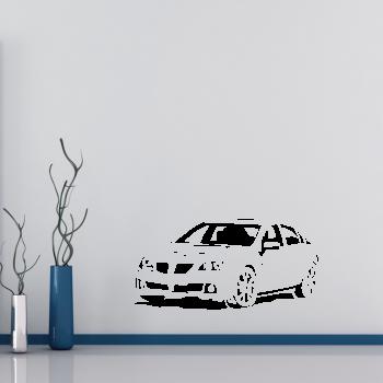 Samolepka na zeď - Závodní auto
