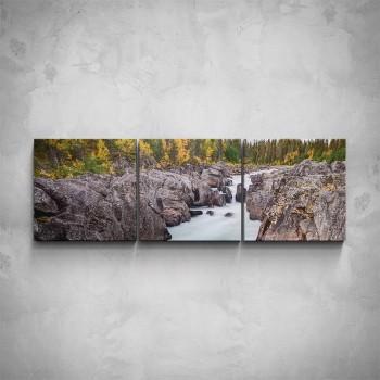 3-dílný obraz - Horská řeka