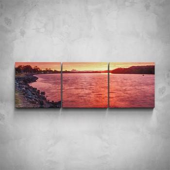 3-dílný obraz - Západ slunce v zátoce