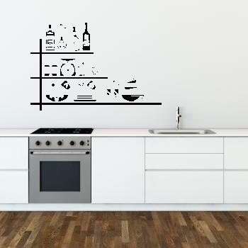 Samolepka na zeď - Kuchyňská polička