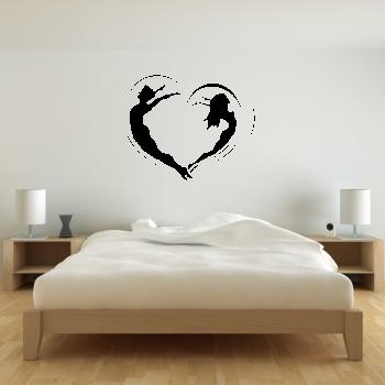 Samolepka na zeď - Srdce