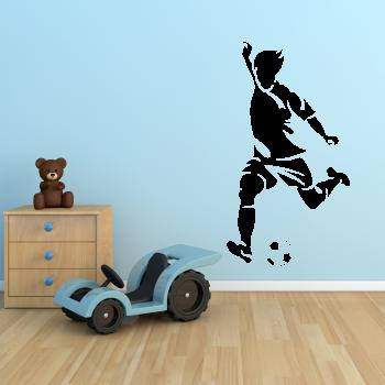 Samolepka na zeď - Kopající fotbalista