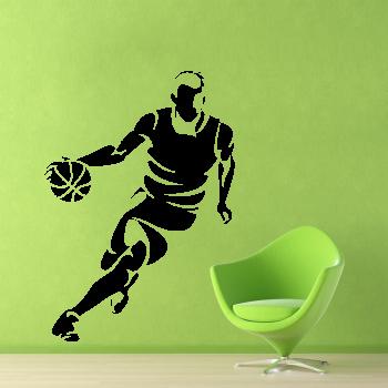 Samolepka na zeď - Basketbalista