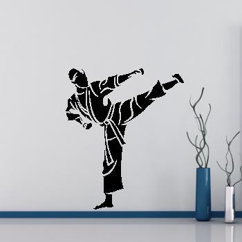 Samolepka na zeď - Karatista