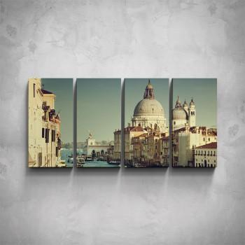 4-dílný obraz - Atmosféra Benátek