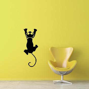 Samolepka na zeď - Škrábající kočka