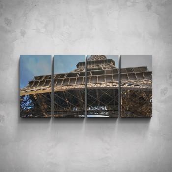 4-dílný obraz - Eiffelova věž - detail