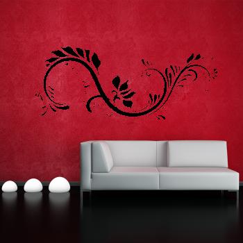 Samolepka na zeď- Květinový floral
