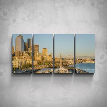 4-dílný obraz - Seattle